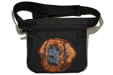 Embroidered Dog treat pouch/bag. Breed - Leonberger