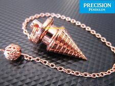 Bronze Solid Metal Psychic Wave Precision Pendulum with Chain Dowsing Divination