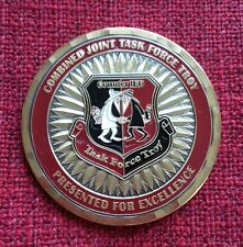 AUTHENTIC COMBINED TASK FORCE TROY COUNTER IED CJTF-TROY RARE CHALLENGE COIN