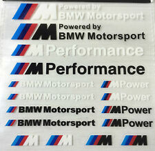 16x BMW M Sport Adesivo M POWER ADESIVI M Performance decalcomanie Badge Logo m3 m5 m6
