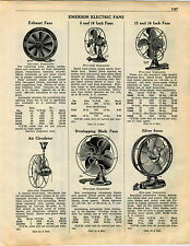 1936 ADVERTISEMENT Emerson Overlapping Blade Silver Swan Electric Fan Fans