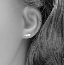 925 Sterling Silver- Simple Style Fashion Mini Feather Earrings Stud Women Charm