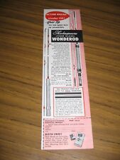 1953 Print Ad Shakespeare Fiber Glass Wonderod Fishing Rods Kalamazoo,MI