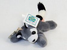 """Ricky Jr."" Beanpals Babies Plush Toy Collectible Keyring ~ Cute, Fuzzy Raccoon"