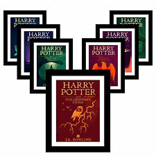 HARRY POTTER A3 Olly Moss Poster Print ALL 7 With CHRISTMAS PRESENT GIFT