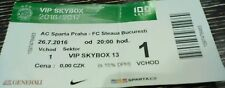 VIP SKYBOX TICKET UEFA CL 2016/17 Sparta Prag - Steaua Bukarest