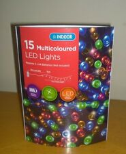 15 MULTI COLOURED LED LIGHTS BATTERY OPERATED
