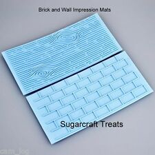Brick Wall and Wood Grain Impression Mat Mould Sugarcraft Cake Decorating