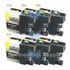 6 BLACK LC103XL HIGH YIELD compatible LC103XL LC-103 LC103BK for Brother printer