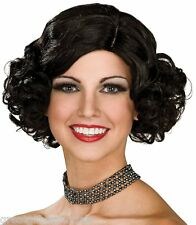 Black Flapper Wig Short Curly Roaring 20s Adult Costume Hair Gatsby Jazz 30s