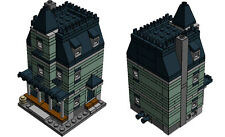 LEGO mini modular Haunted House PDF instructions custom MOC 10228 10230 green