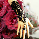 Vintage Lace Bridal Wedding Gloves Prom Party Costume Long Gloves Fingerless