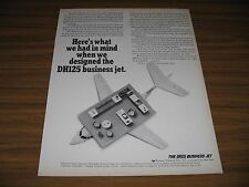 1966 Print Ad DH125 Business Jets Hawker Siddeley LaGuardia Field,NY