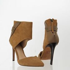 Women's Joe's Shoes Brown Suede Ankle Wrap Pointed Toe Heels Size 6 M NEW!