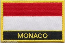 Monaco Flag Embroidered Patch Badge - Sew or Iron on
