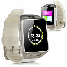 GV08 Bluetooth Smart Watch Camera Support TF&SIM For Android & IOS Samsung White