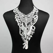 Black Off White Lace Applique Neckline Collar Venise Polyester Lace Trims Sewing