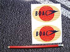 2 X  BOAC AIRLINES STICKERS COMET AVIATION AEROPLANE AIRLINER VINTAGE RETRO
