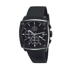 Puma PU102591003 Shade L Men's Chronograph Black Dial Black Rubber Quartz Watch