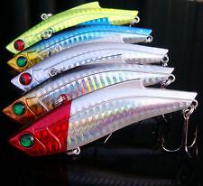 New 5pcs Lot Sea Fishing VIB Huge Fishing Lures Laser Bait Treble Tackle 35g/9cm