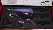 Weinachtsgeschenk Titanium-Messerset 4-Teilig Kochmesser,Küchenmesser Neu