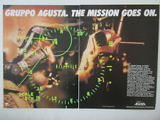 8/1986 PUB AGUSTA ATTACK HELICOPTER HELICOPTERE A129 PILOT CASQUE HELMET AD