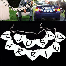 Just Married Wedding Car Cling Decal Sticker Window Banner Decoration