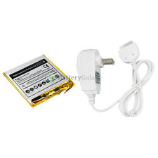 BATTERY+HOME AC CHARGER FOR APPLE IPOD NANO 3rd GEN 8GB