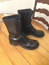 "Men's Corcoran 1500 Black Leather 10"" Jump Boots (Size 7 1/2 D) MADE IN USA"