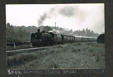 OLD PHOTO RAILWAY ENGINE LEAVES JOHORE BAHRU STATION SINGAPORE MALAYA 1954 (524)