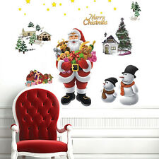 New Arrival Santa Snowman Tree Removable Wall Vinyl Sticker Holiday Christmas