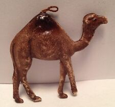 Antique Double sided Dresden CAMEL German feather tree Christmas Ornament