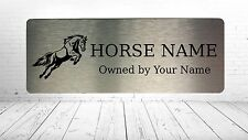 Name Plate Plaques Horse 6 Pony Custom Personalised Stable Door Sign Aluminium