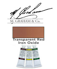 M Graham Watercolor 15ml Tube Trans Red Iron Oxide 33-187