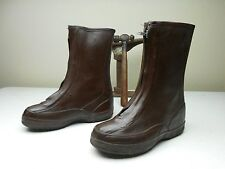 BROWN ZIP UP ICE FARM & RANCH HUNTING DUCK BOOTS 9-M