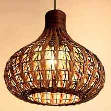 NEW Tropical Bamboo Chandelier DIY Wicker Rattan Lamp Shades Weave Hanging Light