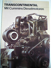 Ford trans continental con motores diesel Cummins camiones sales brochure folleto