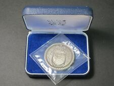 1976 New Zealand Proof Dollar $1 Coin In Felt Presentation Case, Capsule