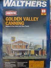 Walthers Cornerstone HO #3018 Golden Valley Canning Company -- Kit - Main Buildi