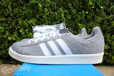 ADIDAS CAMPUS 80'S BW SZ 8 BEDWIN AND THE HEART BREAKERS GREY WHITE S75675