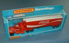 MIB COCA COLA MATCHBOX SUPERKINGS PETERBILT SEMI TRUCK (CHROME TOP) - UK - COKE