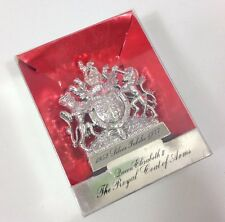 VINTAGE MATCHBOX LESNEY 1952-1977 JUBILEE QUEEN ELIZABETH II COAT OF ARMS CREST