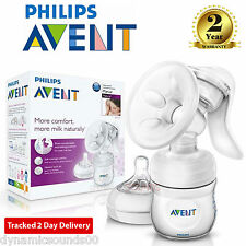 Philips AVENT Comfort Natural Manual Breast Pump & Bottle SCF330/20
