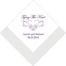100 Tying the Knot Western Personalized Wedding Luncheon Napkins