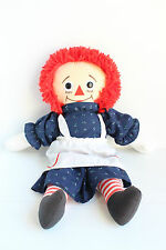 RAGGEDY ANN Plush Stuffed Doll by APPLAUSE Collectible Gift for Girl