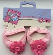 Me To You Tatty Teddy Bear Doll Dress up Outfit Pink Flower Felt Shoes Slippers