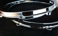 "New Ludwig Die Cast CHROME Snare Drum Hoops PAIR 14"" 8 Ear/Hole/Lug"