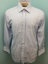 "Charles Tyrwhitt Blue Striped Men's Dress Shirt 16.5/33"" Extra Slim Fit"