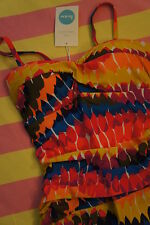 New in Bag, BODEN Sorrento Swimsuit - Multi Feathers  Sz 20 / 22 UK - 16 / 18 US