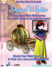 "MAKE YOUR CHILD A ""STAR"" IN THIS PERSONALISED DVD MOVIE...SNOW WHITE"